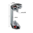 Double sided clip frame 150mm & 100mm